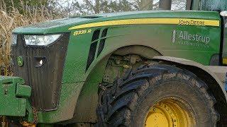 John Deere 8370R & 8335R Working Hard Chopping Corn w/ Claas Jaguar 960 | Danish Agri