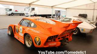 4x Porsche Kremer 935 K3 Turbo - Big Flames and Backfire!