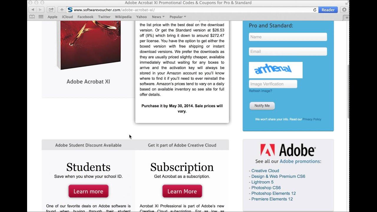 Adobe acrobat pro coupon code