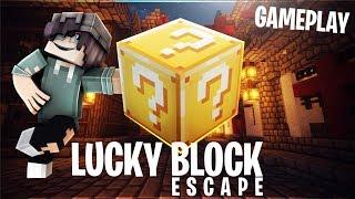 LUCKY BLOCK ESCAPE - Level 3 Playthrough & Solution (MCPE Lucky Blocks Map)