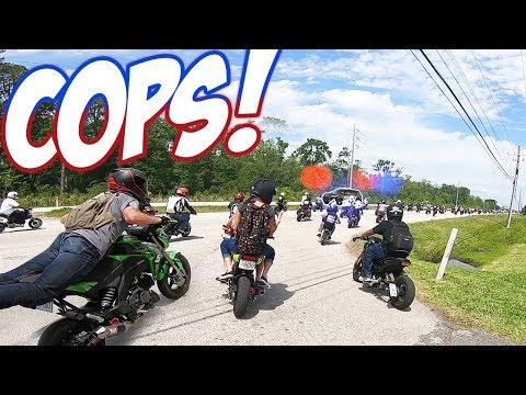 COPS vs 300+ Honda Groms!