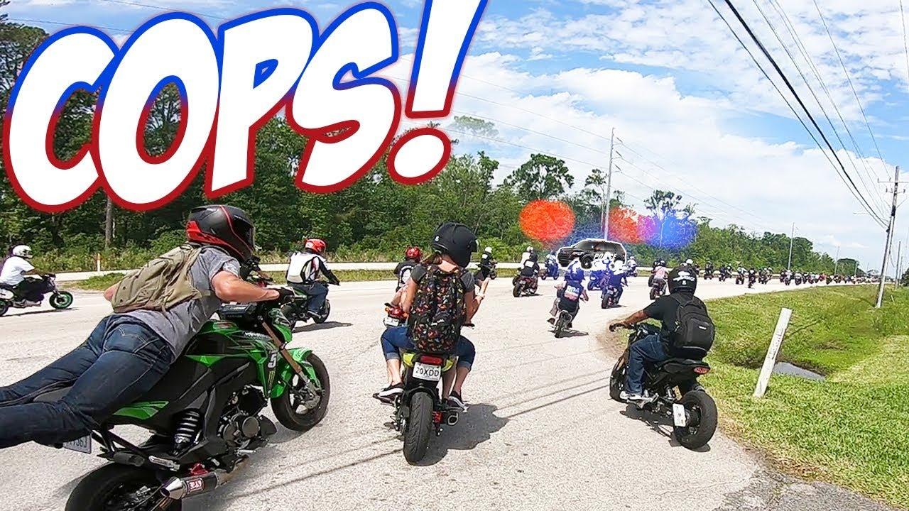 Download COPS vs 300+ Honda Groms!