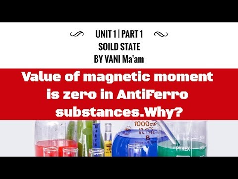 Value of magnetic moment is zero in AntiFerro substances.Why?| Class 12 |Solid State |