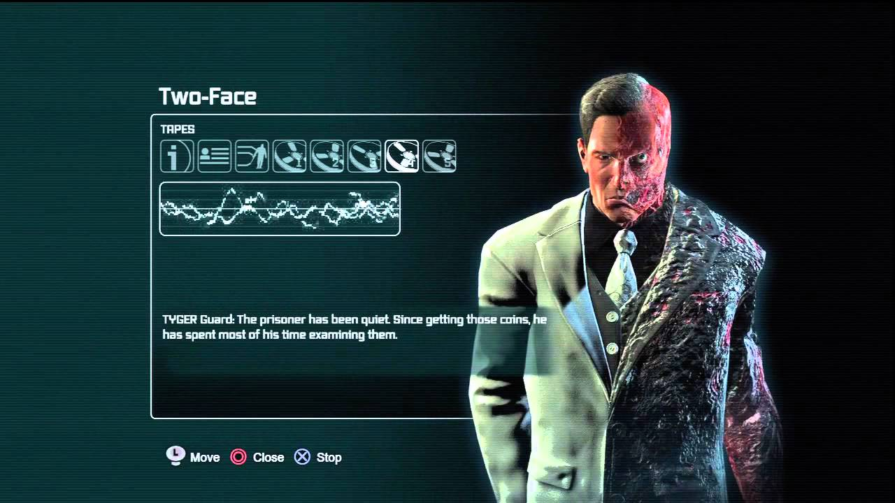 Batman arkham city Two Face Tapes - YouTube
