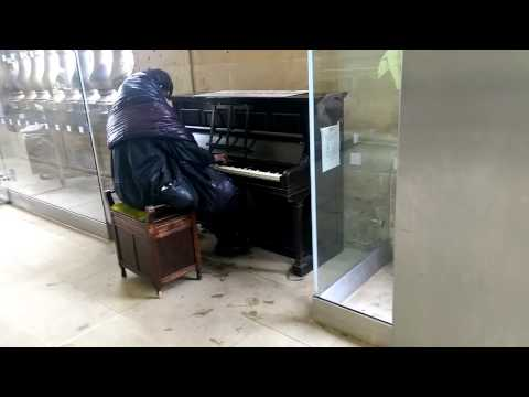 Homeless man in Newcastle plays Beethoven on piano