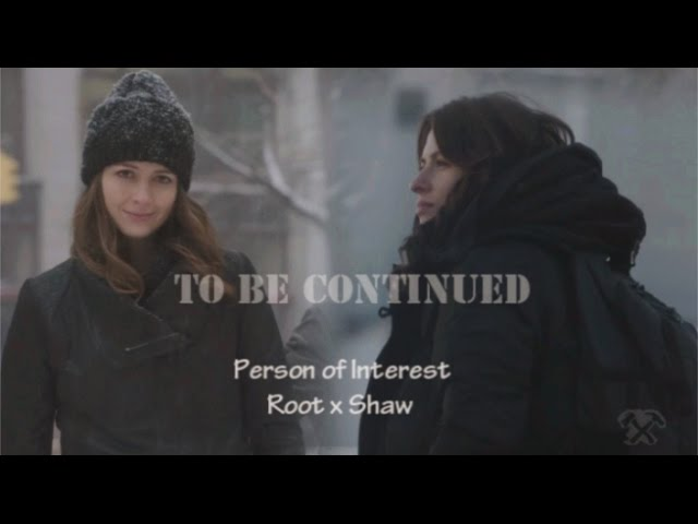 "This Could Take All Night…"" – Root & Sameen Shaw, PERSON OF INTEREST"