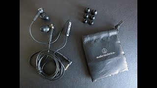 Audio Technica ATH-CKS55 in-ear headphones SPL dB sound test + quick review