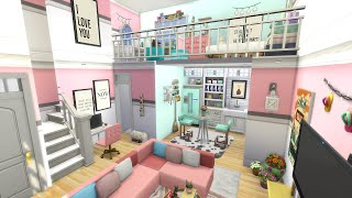 IF I WAS A SIM I WOULD LIVE IN THIS LOFT   The Sims 4   Speed Build   NO CC