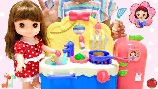 レミン&ソラン しらゆきひめ あそびたっぷりキッチン お料理 / Remin & Solan Doll Snow White Kitchen Toys Pretend Cooking thumbnail
