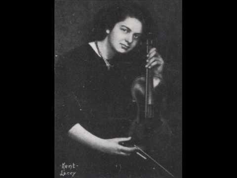 Isolde Menges -- Bach Violin Sonata #3, E Major, BWV 1016 3. Adagio ma non troppo