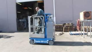Genie GR-12 Manlift Scissor Lift Aerial Electric Man Lift 500 lbs awp