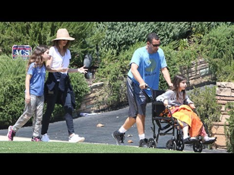 Adam Sandler And Family Get Some Fresh Air