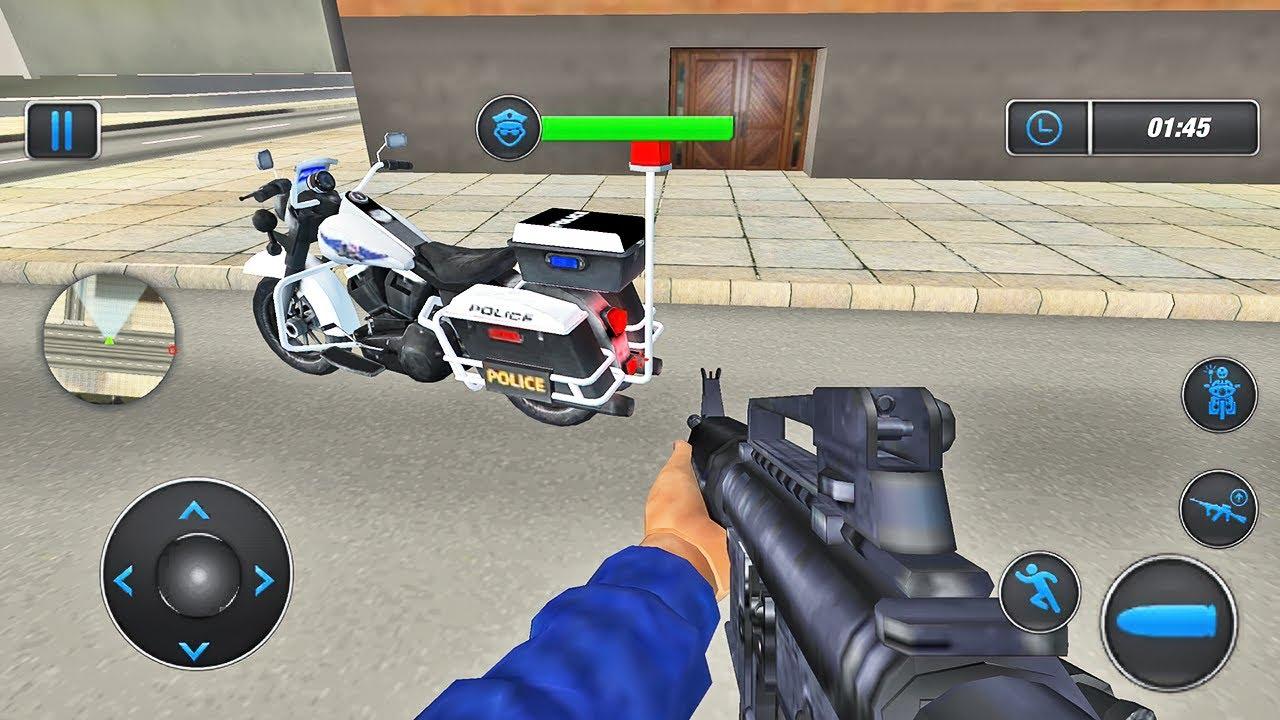 US Police Prado & Bike Gangster Chase Simulator - Android Gameplay