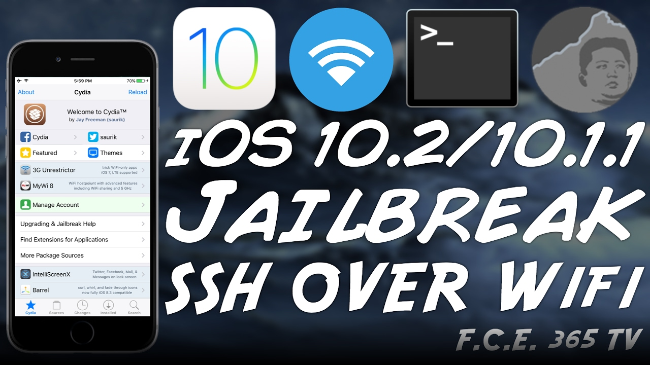 iOS 10 2 Yalu Jailbreak - Enable SSH Over WiFi (For iOS Downgrades)