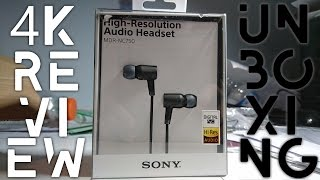 sony MDR NC750 Headseat  4K Unboxing & Review