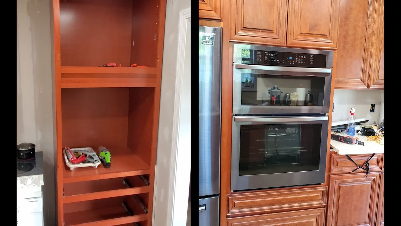 wall oven cabinet install wall oven combo