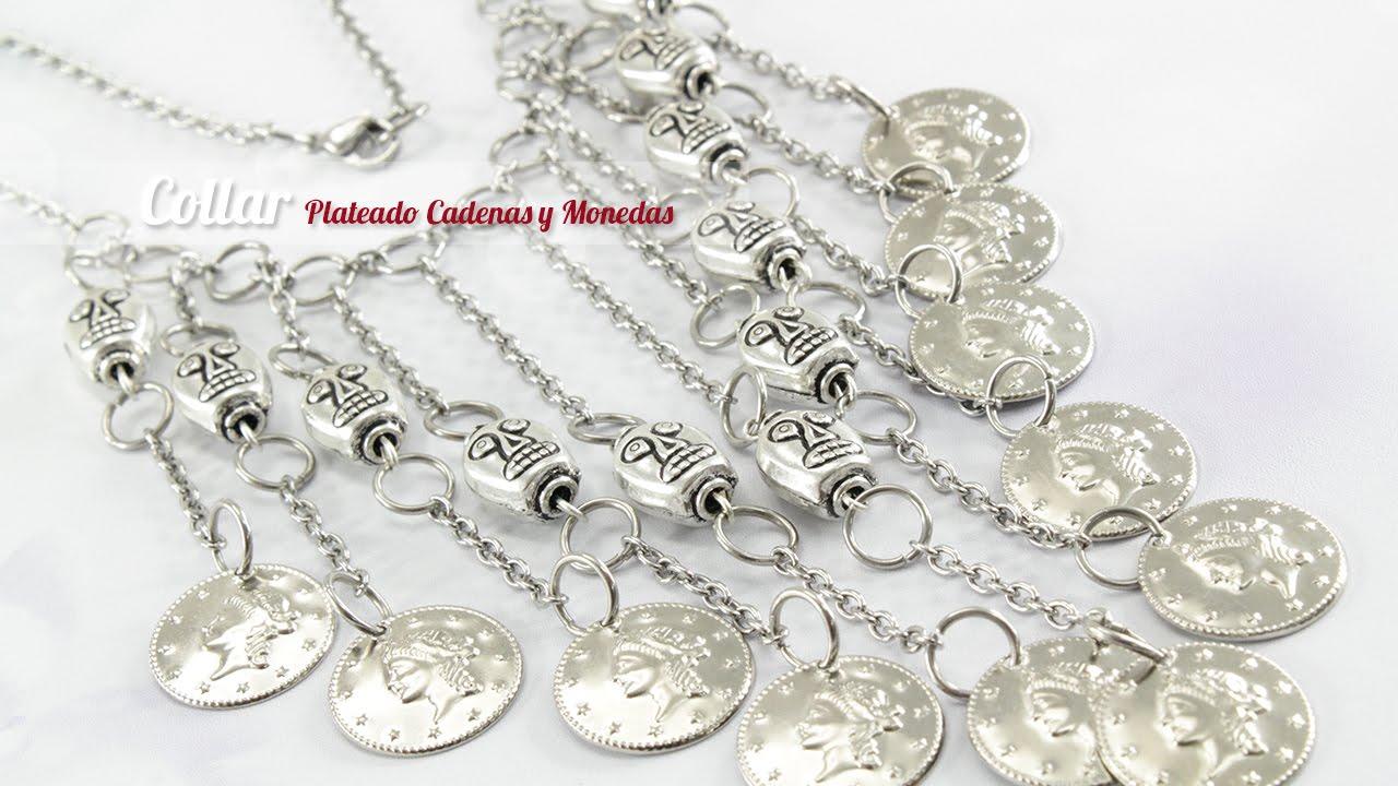 17ef1f41b14e Cómo hacer un Collar plateado con cadena y dijes (ENGLISH CC)