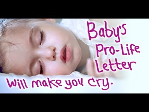 Babys Pro Life Letter Will Make You Cry
