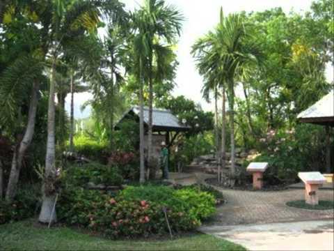 จัดสวนด้วยอิฐมอญ สวนเล็กข้างบ้าน