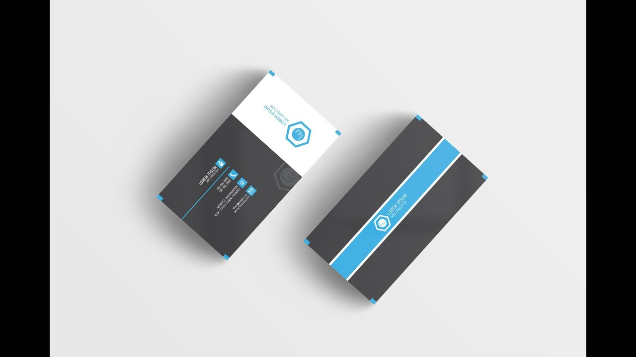 How to Design a Doubled Sided Business Card (Illustrator Bangla ...