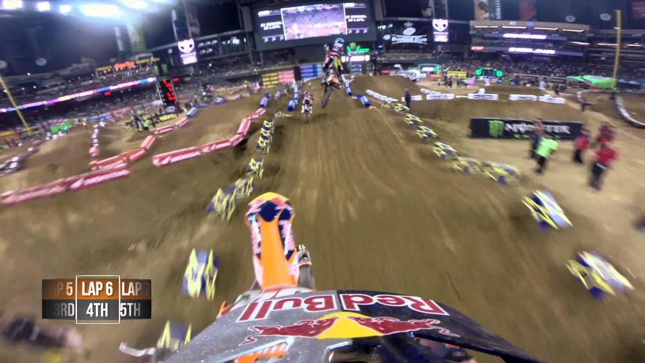 GoPro HD: Ken Roczen and Justin Barcia Main Event Battle 2014 Monster Energy Supercross from Phoenix - Motor Informed