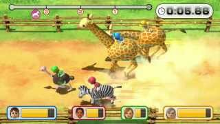 Wii Party U Minigame Showcase - Safari Hustle (All 4 Animals)