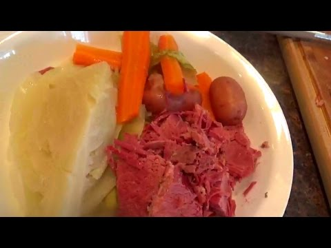 Corned Beef and Cabbage boiled dinner