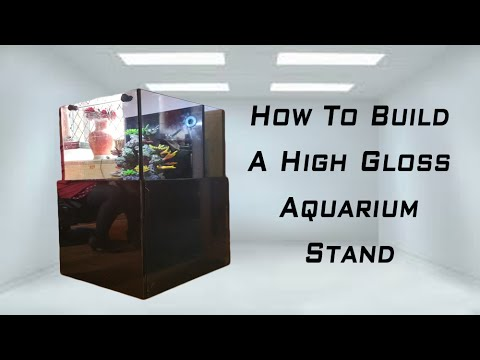 How To Build A High Gloss Aquarium Stand Youtube