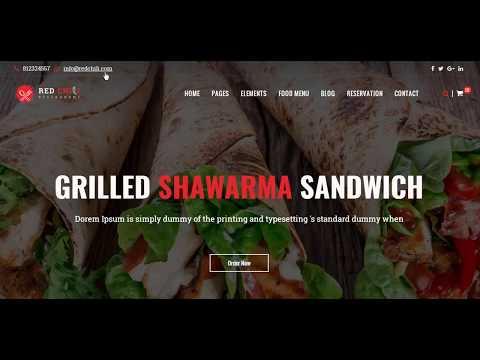 How To Create A Restaurant Website - Best Restaurant Website - Restaurant Website