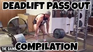 Deadlift Pass Outs Compilation Gym Fails | The Gains Gods