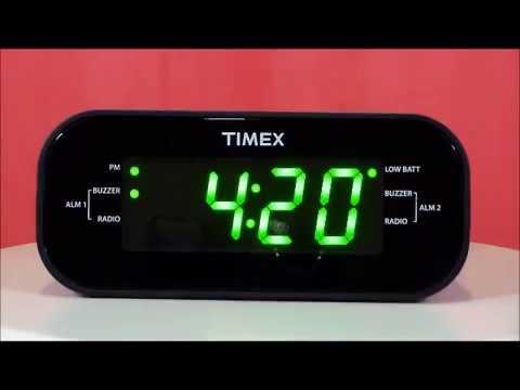 Large Display Dual Alarm Clock Radio