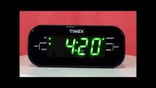 Timex T231G Large Display Dual Alarm Clock Radio