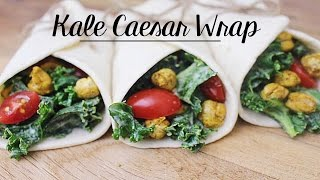 Kale Caesar Wrap with Roasted Chickpeas