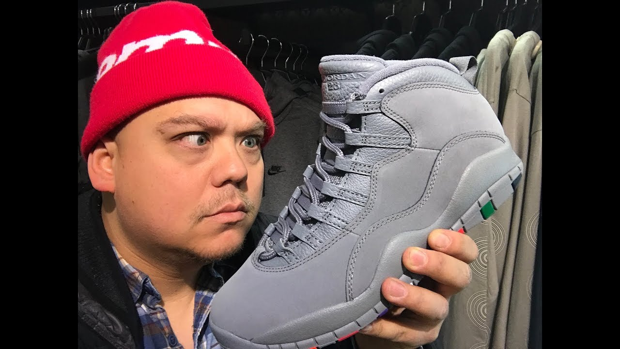 1e16e27d7a1 Air Jordan 10 Cool Grey Rainbow X Retro Sneaker Detailed Honest Review