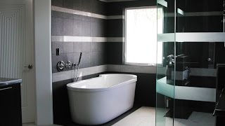 Дизайн ванной в черно-белом цвете. 33 лучших варианта.