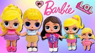 Custom Barbie DIY LOL Surprise Family - Ken, Skipper, Stacie and Chelsea streaming