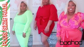$500 Boohoo Plus Size Spring Try on Haul!