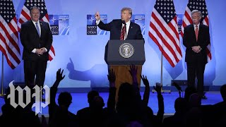 Watch Trump's full news conference at NATO summit