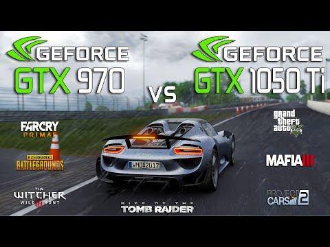 GTX 1050 Ti vs GTX 970 Test in 7 Games (i3 8100)