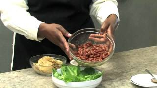 Kidney Bean Taco Salad (vegetarian)