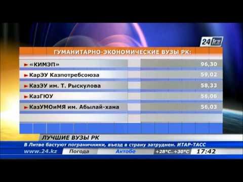 Составлен рейтинг лучших вузов Казахстана в 2013 году