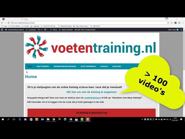 hallux valgus online training uitleg