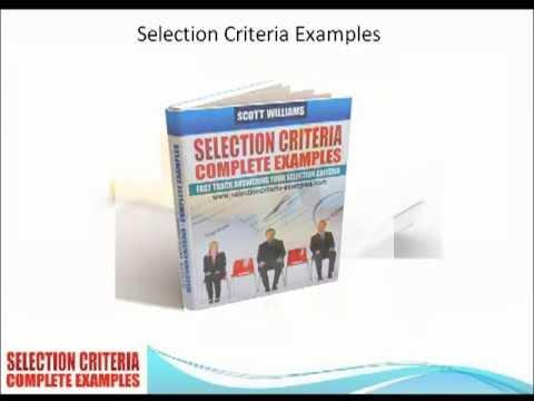 do not meet selection criteria responses