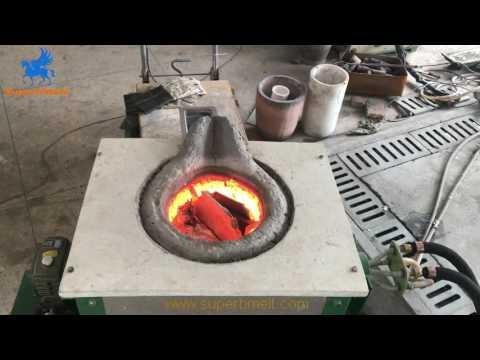 20kg Aluminium Melting Furnace Test In Factory - SuperbMelt