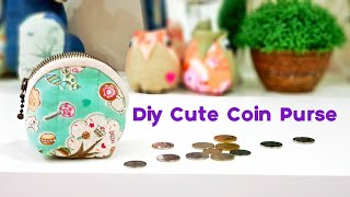 Diy Cute Zipper Coin Purse | Easy Sewing Project 【巧小拉链零钱包教学】#HandyMum❤❤