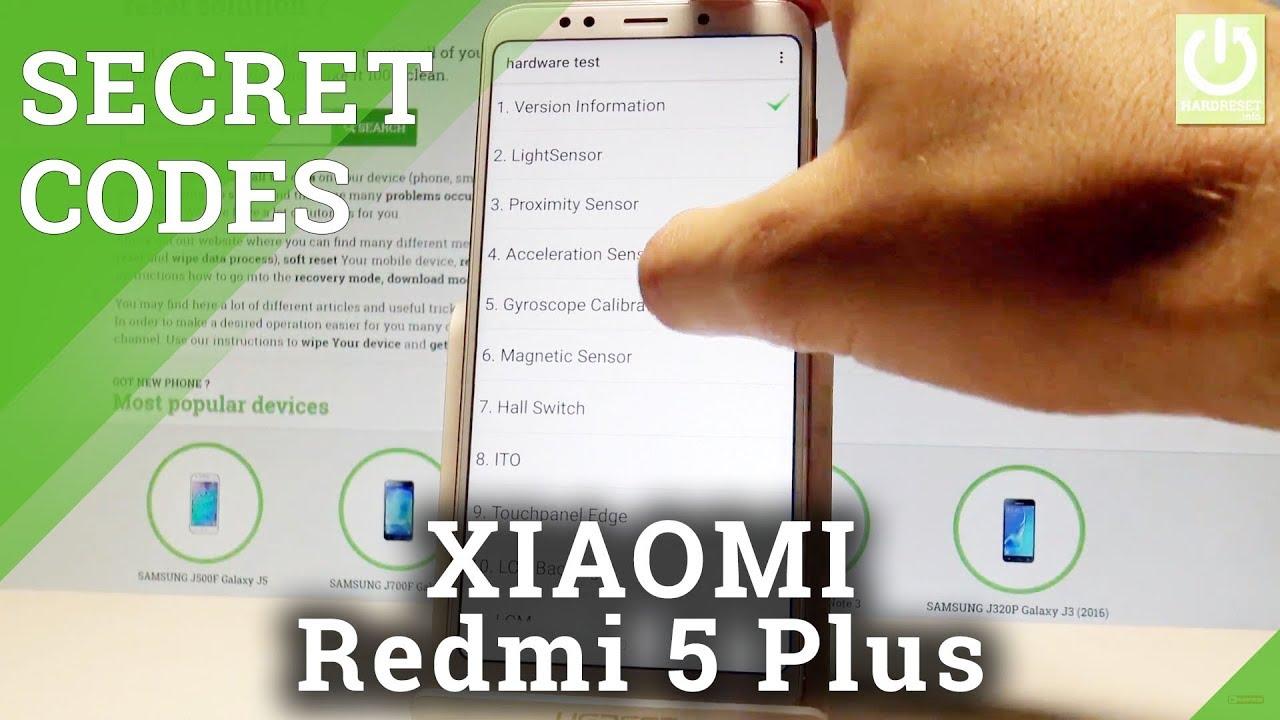 Secret Codes in Xiaomi Redmi 5 Plus - Hidden Features / MIUI Tricks