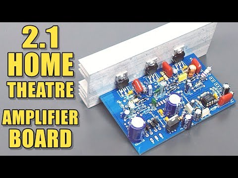 2.1 Home Theatre Audio Amplifier Board with TDA2030 IC DIY ... Home Theatre Amplifier Wiring Diagram on