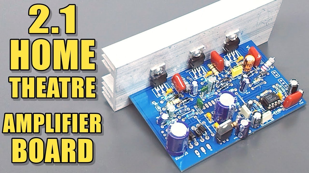 100w subwoofer amplifier circuit diagram high power led driver 2 1 home theatre audio board with tda2030 ic diy electro india