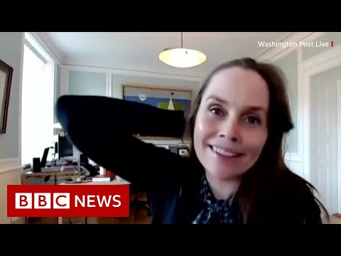Iceland PM keeps her cool as earthquake disrupts interview - BBC News