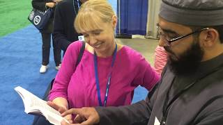 Muslim Recites Chapter Mary To Christian - WhyIslam's Dawah At NJEA 2018